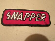 NEW UNUSED SNAPPER LAWN MOWER LAWNMOWER VINTAGE PATCH OLD SCHOOL GREAT FOR HAT !