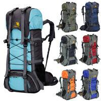 60L Outdoor Camping Travel Rucksack Backpack Climbing Hiking Bag Packs 8 Colors