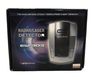 New Open Box Early Warning EW-303 Laser/Radar Detector Color Gold