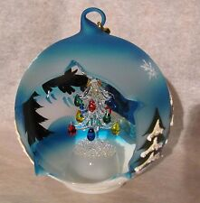 Sorelle winter sky tree globe ornament, unusual, art, glass