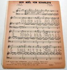 Partition sheet music LES CHARLOTS Der Noël Von Scharlots * 60's RINALDI