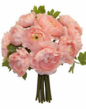 PINK ~ RANUNCULUS Bouquet Bridal Silk Wedding Flowers Centerpieces Decorations