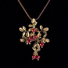 Michael Michaud - Cranberry Pendant Necklace - Silver Seasons Jewelry
