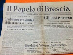 Giornale Italiano Ww2 Fascista Fascismo Regio Esercito 1937 Guerra Di Spagna