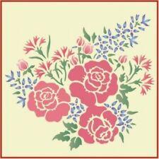 ROSE & CARNATION BOUQUET STENCIL -The Artful Stencil