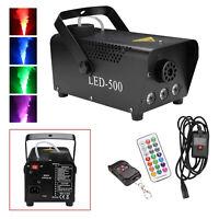 Nebelmaschine RGB LED Rauch Fernbedienung Show Mini DJ Bühneneffekt Disco 500W