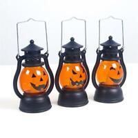 Halloween Vintage Pumpkin Light Lamp Hanging Home Party Decor LED Lantern Props
