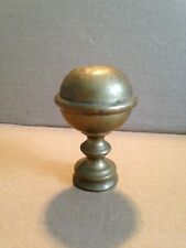 """Antique Brass Round Ball Flag Pole Topper Finial Threaded 3 3/4"""" H"""