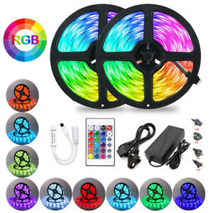 5M/10M LED Strip Lights SMD 5050 RGB Color Changing Rope Light for Home Decora