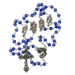 "Rosary of the Archangels 21"" Glass 6 mm Glass"