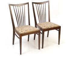 2 Stühle Fifties Holz Federkern gepolstert Stuhl chairs chaise la silla sedia
