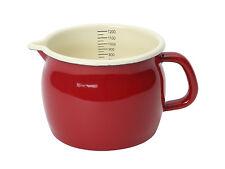 Dexam Vintage Home 1.2L Measuring Jug Claret Red Enamel Finish Kitchen Caravan