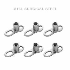 Dermal Anchor Base 16g lot of 6 pc  316L Surgical Steel