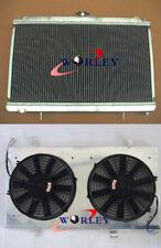 Aluminum radiator + shroud fan for NISSAN SILVIA S14 S15 200SX SR20DET 2.0 94-02