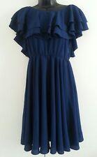 Asos Blue frills skater Dress size UK8 EU36,US4