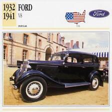1932-1941 FORD V8 Classic Car Photograph / Information Maxi Card