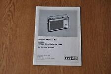 ITT KB KR028 KR029 RR229 Radio Genuine Service Manual. Kolster Brandes