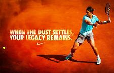 "RAFAEL NADAL RARE ""WHEN THE DUST SETTLES"" ATP TOUR AUSTRALIAN OPEN 2018 POSTER"