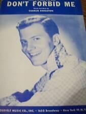 Pat Boone Don't Forbid Me 1956 Photo Sheet Music