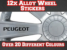 12x Peugeot Vinyl Stickers Decals for Alloy Wheels 106, 107, 206, 207, 306, 307