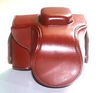 PU Leather Camera Case Bag Cover for Olympus E-M10 EM10 camera