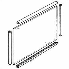 Glass Panel & Seals to suit Parkray Consort/Classic/Caprice/Chevin 400mm x 255mm