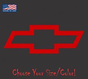 Chevy Chevrolet Bowtie Emblem Vinyl Decal Logo Sticker Racing Truck SS 4x4 Plain