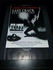 Last Crack Burning Time Rare Original Radio Promo Poster Ad Framed!