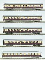 RIVAROSSI HR4267 Set Henschel Wegmann DRB, 5 carrozze livrea beige/viola/argento