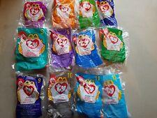 1998 Ty McDonalds Teenie Beanie Babies Full Set of 12 in Original Bags