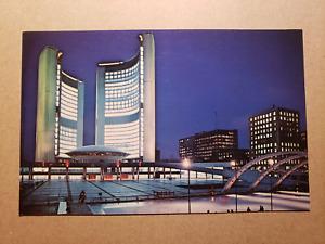 Vintage Postcard - Nathan Phillips Square New City Hall Toronto - Royal Sales