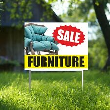 Furniture Sale Yard Sign Corrugate Plastic With H Stakes Retail Store Sofas Sale