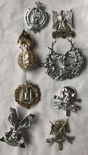 8 british military staybright army cap collar badge set etc