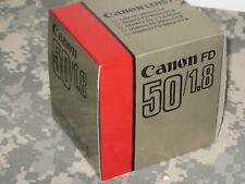 VINTAGE CANON FD 50mm f1.8 Lens Mint Open Box