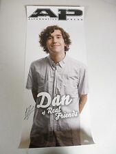 REAL FRIENDS BAND DAN SIGNED AUTOGRAPHED POSTER SERIAL NUMBER STICKER AND COA