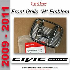 "Genuine OEM Honda Civic 4Dr Sedan Front Grille ""H"" Emblem     (75700-TF0-000)"