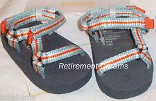 GYMBOREE Sandals Crib Shoes size 2 NEW AT THE BEACH Blue Orange White 02