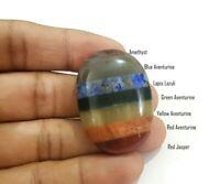 Oval 7 Chakrastone reiki healing meditation all 7 stones palm worry stone 1 X
