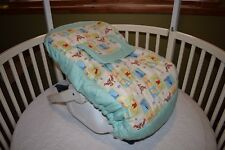 NEW INFANT CAR SEAT CARRIER COVER M/W WINNIE THE POOH FABRIC