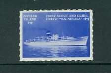GB locals: Davaar Island 1973 'First Scout & Guide Cruise S.S. Nevasa' perf MNH