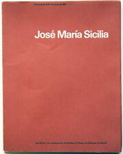 José María Sicilia: Peintures de 1987/Pinturas de 1987; First Edition