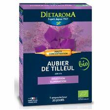 ♡♡ Dietaroma ♡♡ Aubier de Tilleul 20 Ampoules - Digestion et Elimination -  Neuf