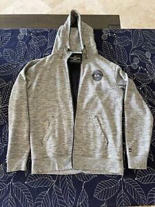 Quiksilver Adapt Grey Zipper Jacket Hoodie Sweatshirt Size L Large Never Worn!