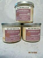 Bath & Body Works Test Lab Lavender Cacao Gourmand Blend Candle 14.5 oz x 3 SOY