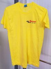 VTG Starrett Tools 100 Years 1880-1980 Screen Stars Men's L T-Shirt Yellow EUC