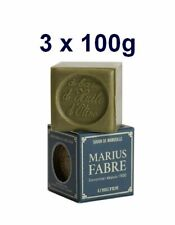 Marius Fabre Savon de Marseille à l'huile d'olive - 3 x 100g Cube - En boîte