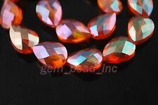 10ps Wine Red Glass Crystal Faceted Teardrop Beads 18mm Spacer Jewelry Findings