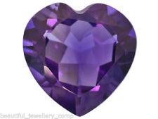 Gemas sueltas de amatista púrpura de corazón