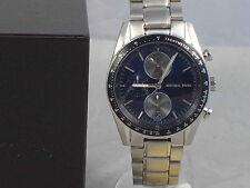 Michael Kors Men's ACCELERATOR Stainless Blue Dial Chronograph Watch MK8367