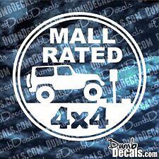 MALL RATED Jeep Decal vinyl sticker Wrangler 4x4 flex trail garage trailer queen